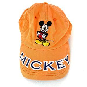 DISNEY Mickey Mouse Vintage Orange Dad Hat Size OS